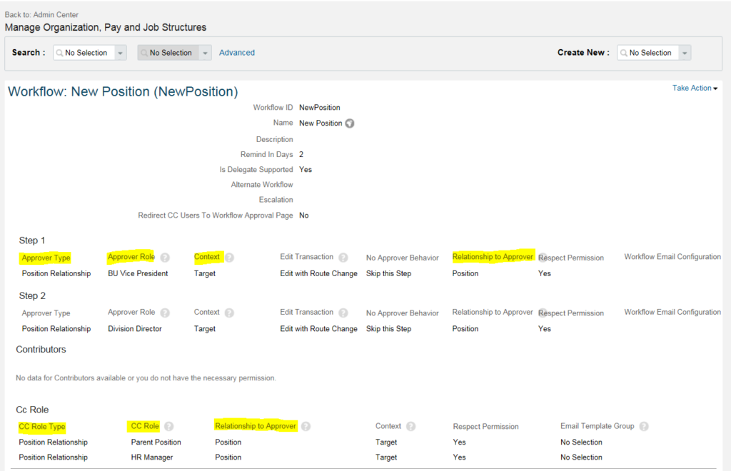 How to build Workflows in Position Object - Cloud HR